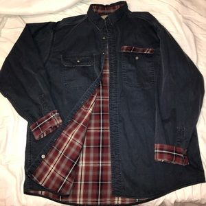 Vintage LL Bean Flannel lined shirt jacket